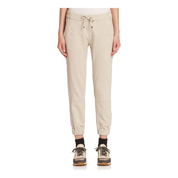 BRUNELLO CUCINELLI Felpa cotton knit sweat pants - Kick back in the softness of Italian cotton knit, offering...