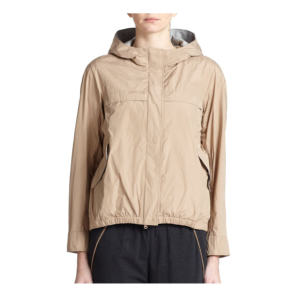 BRUNELLO CUCINELLI Hooded taffeta jacket - A sporty design in lightweight taffeta, updated with a...