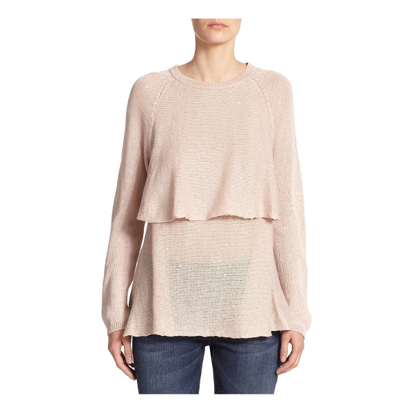 BRUNELLO CUCINELLI Sequined overlay sweater - A dusting of paillettes adds subtle shimmer to this elegant...