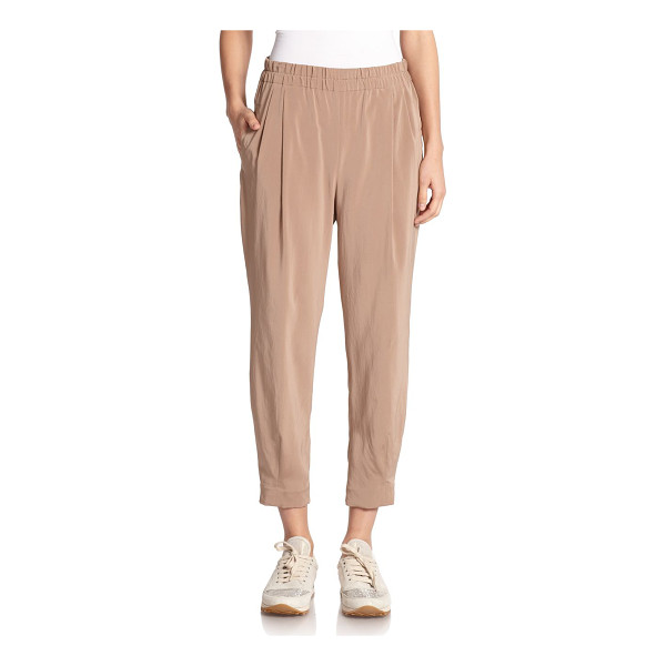BRUNELLO CUCINELLI Silk pleat-front trousers - Effortless draped trousers in washed silk, shaped by subtle...