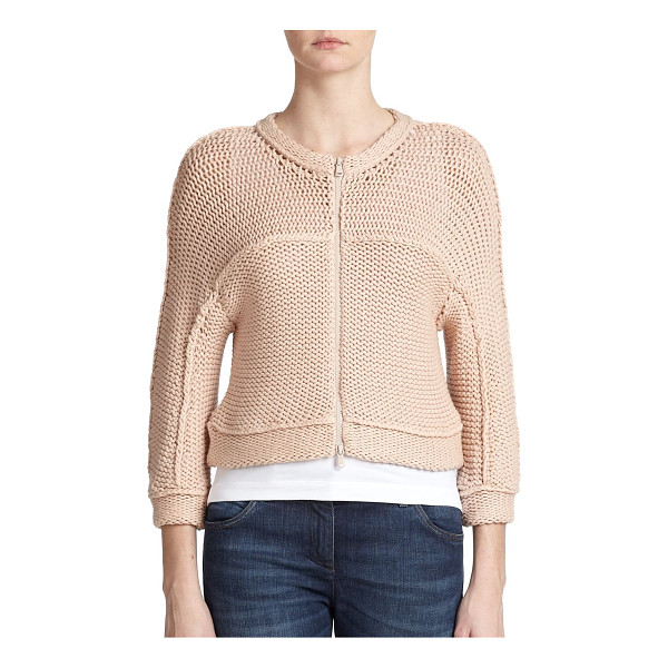 BRUNELLO CUCINELLI Tubular-knit cardigan - A sculptural design with cozy, tubular knit construction in...
