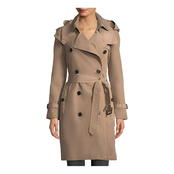 BURBERRY amberford hooded coat - Hooded coat in double breasted design. Attached hood. Long...