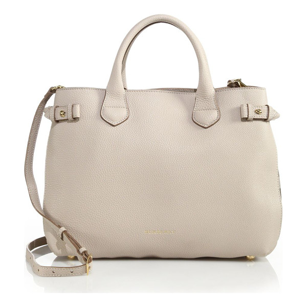 BURBERRY Banner medium leather & check satchel - A timeless design you'll reach for season after season,...