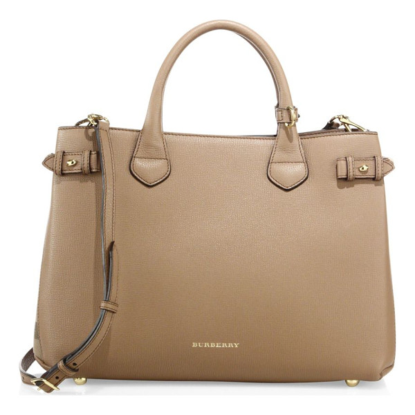 BURBERRY banner medium leather satchel - A timeless design you'll reach for season after season,...