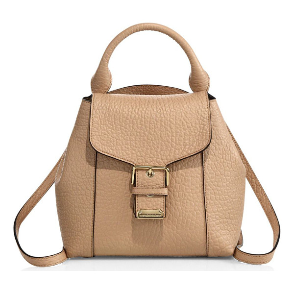 BURBERRY Belmont small leather backpack - Richly textured leather backpack with gleaming buckleTop...