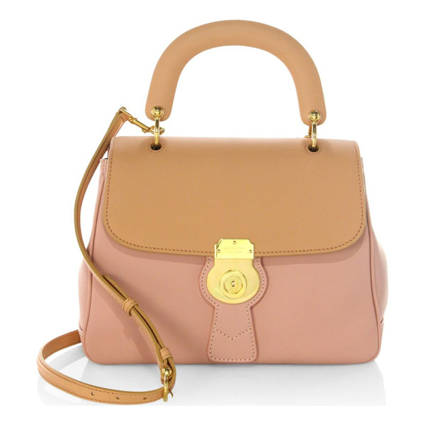 BURBERRY bi-colour leather top handle bag - Trench top handle bag featuring two-tone finish. Top...