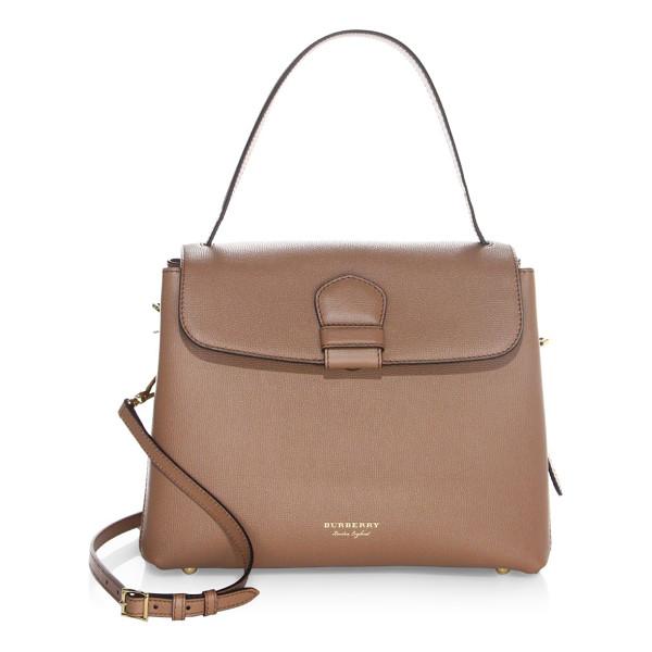 BURBERRY camberley leather tote - Leather tote with signature house check panels. Top handle....