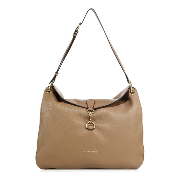 BURBERRY Cornwall medium leather & house check shoulder bag - Slouchy leather shoulder bag with checked side gussets....