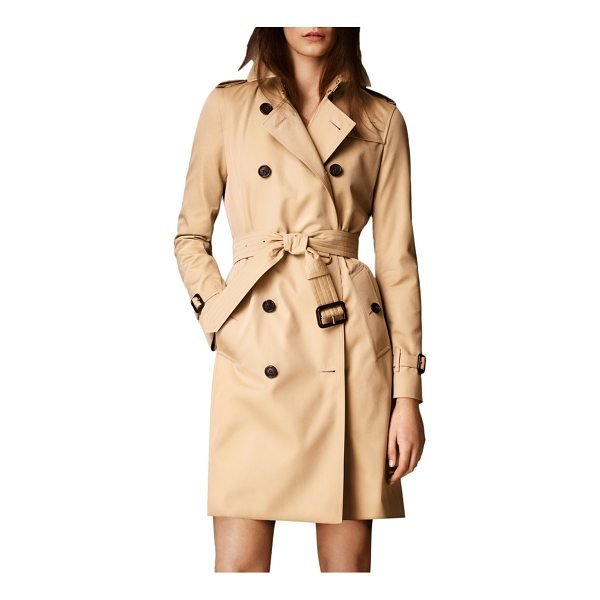 BURBERRY kensington long heritage trench coat - Modern-fit cotton Kensington is tailored with a tapered...