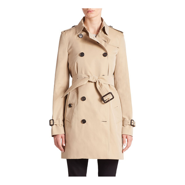 BURBERRY LONDON Heritage kensington liner - Cut from luxe cashmere and decorated with the house's...