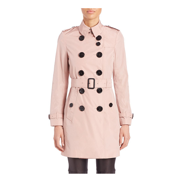 BURBERRY LONDON Lightweight taffeta trenchcoat - Classic trench in lightweight, high-shine taffetaPoint...