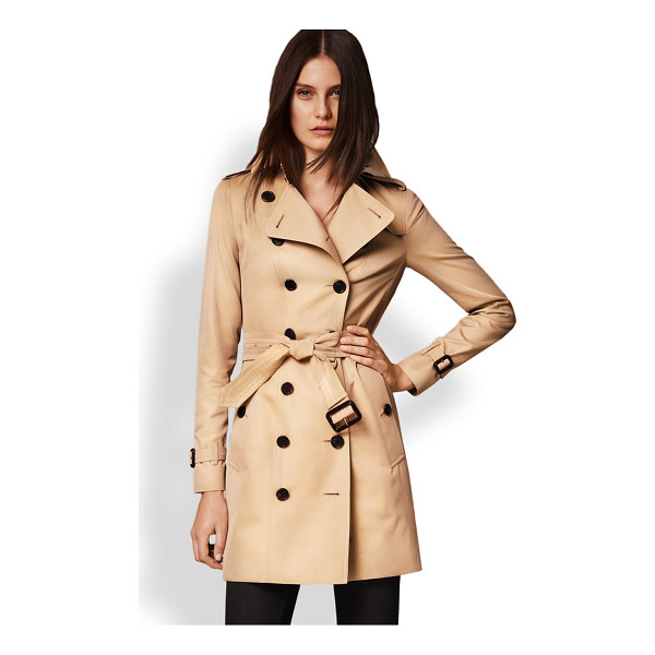 BURBERRY LONDON sandringham mid-length heritage trench coat - Cut from fine cotton gabardine and lined the house's...