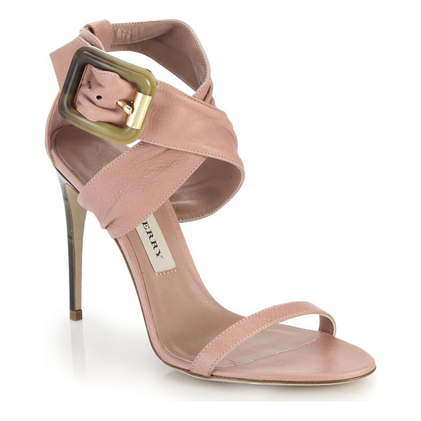 BURBERRY Marham leather criss-cross sandals - These buttery leather sandals are beautifully sculpted with...