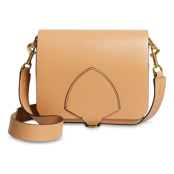BURBERRY square leather satchel - Elegant satchel constructed of leather material. Removable,...