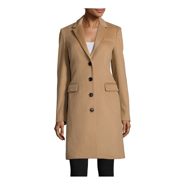 BURBERRY sidlesham tailored wool-blend coat - Classic tailored coat in a rich wool and cashmere blend....