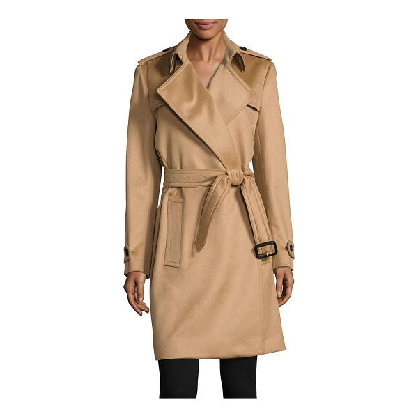 BURBERRY tempsford cashmere wrap trenchcoat - Elegant wrap coat of remarkably luxe cashmere. Wrao...