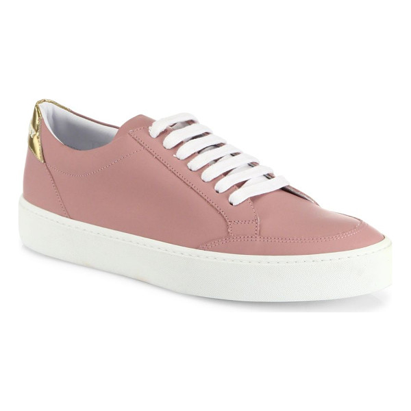 BURBERRY westford leather sneakers - Smooth leather low-top sneaker with metallic heel tab....