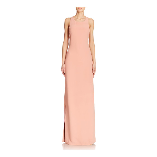 CALVIN KLEIN COLLECTION Dona faille column gown - This elegant column gown in pastel faille is finished with...
