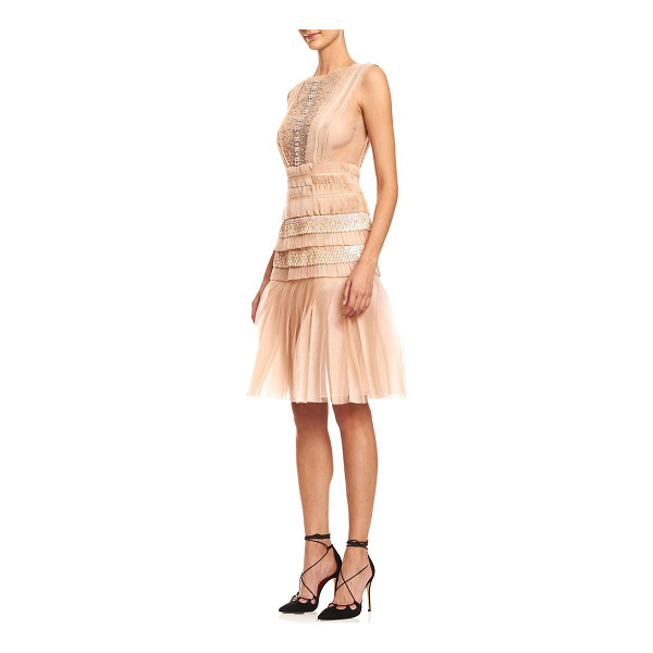 CAROLINA HERRERA embellished silk & tulle cocktail dress - Layers of silk and tulle with fanciful embellishment....
