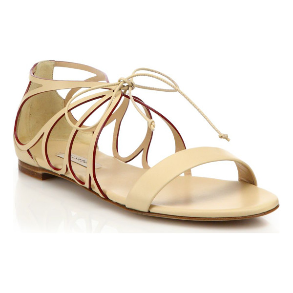 CASADEI Butterfly cut-out leather sandals - Butterfly-inspired cut-out sandal of smooth leatherLeather...
