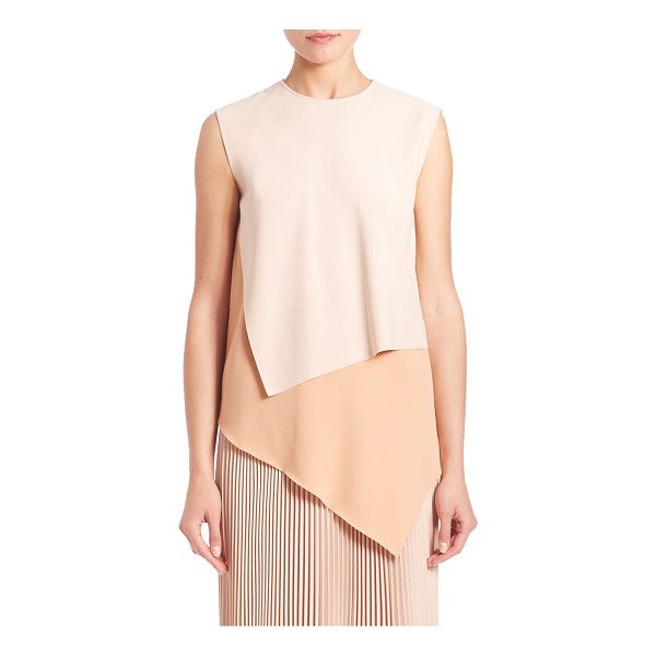CEDRIC CHARLIER colorblocked asymmetrical shell - Refined shell, with chic layered colorblocking. Jewelneck....