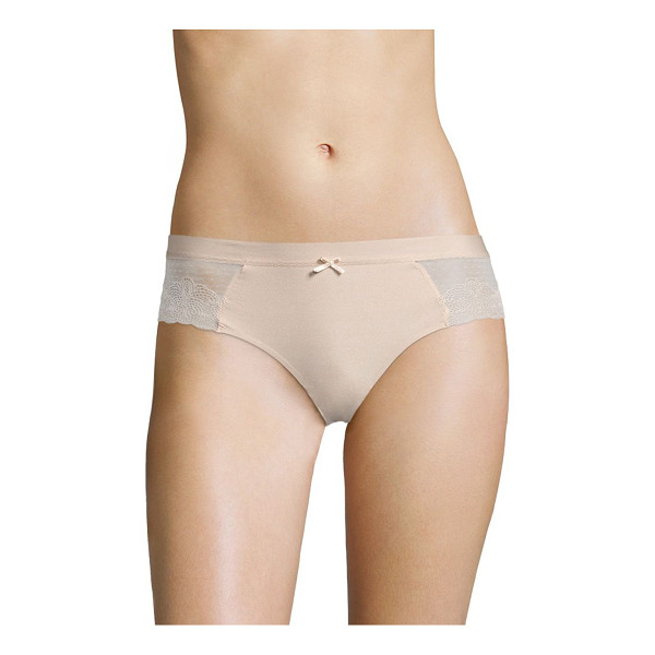 CHANTELLE lace hipster - Flat lace hipster with bi-color bow at waist. Elasticized...