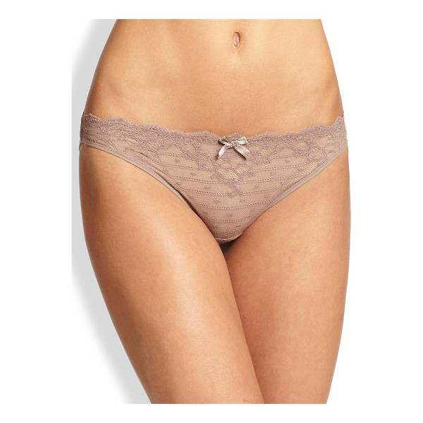 CHANTELLE rive gauche panty - Floral stretch lace panty with scalloped waist finished...