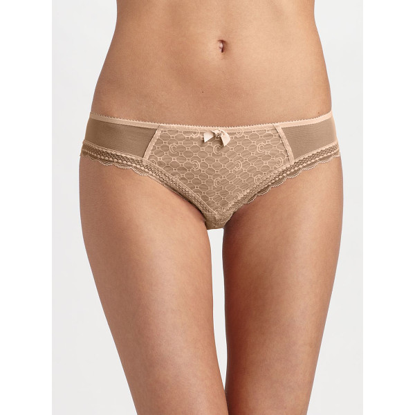CHANTELLE Sexy brazilian bikini - This sensuous design is sheer at the hips with scalloped...