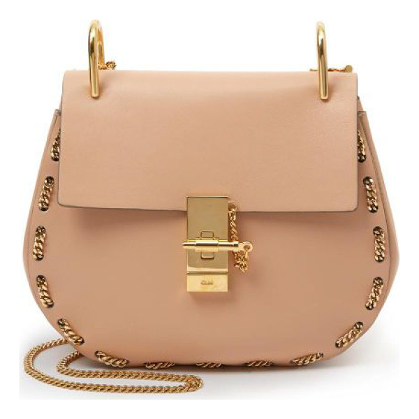 CHLOE Drew chain-trim mini shoulder bag - The ever-chic saddle bag with a contemporary twist, thanks...