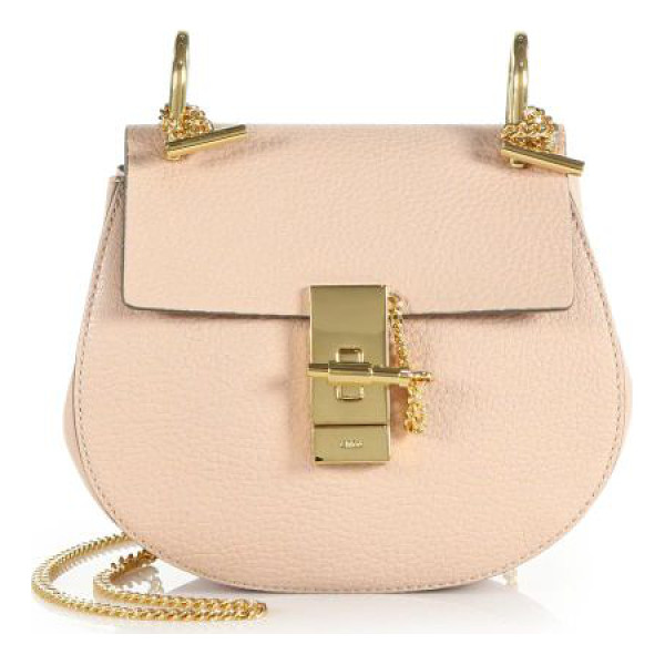 CHLOE drew mini leather saddle crossbody bag - Richly grained leather is rendered in a mini saddle bag