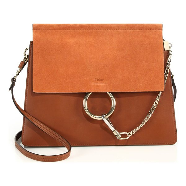 CHLOE medium faye leather & suede bag - Chic leather bag with suede flap and signature hardware....