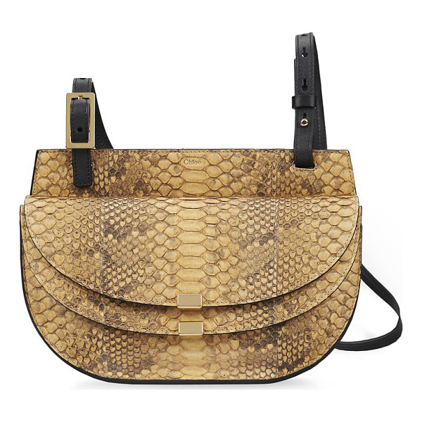 CHLOE Georgia python crossbody bag - Defined by a unique dual-flap design, the Georgia is...