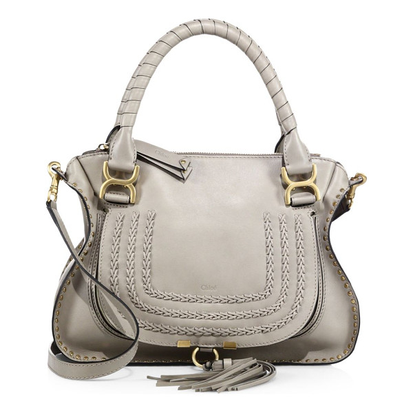 CHLOE marcie large leather satchel - Inspired by the Seventies, calfskin leather in a softly...