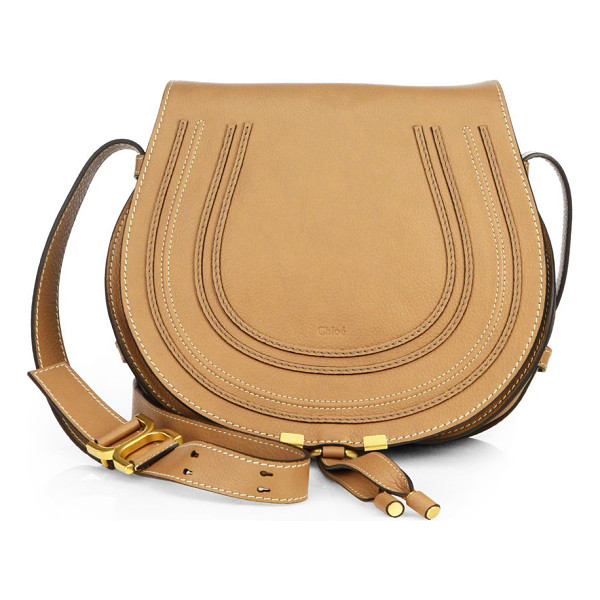 CHLOE marcie medium round crossbody bag - Flap-top crossbody in buttery leather with signature