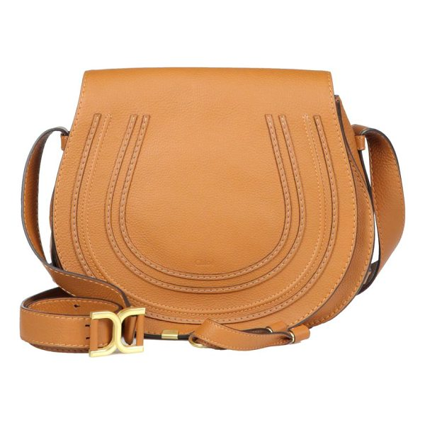 CHLOE marcie medium round leather crossbody bag - Flap-top crossbody in buttery leather with signature...
