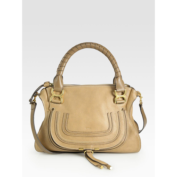 CHLOE marcie medium satchel - Luxe calfskin defines this contoured crossbody design,