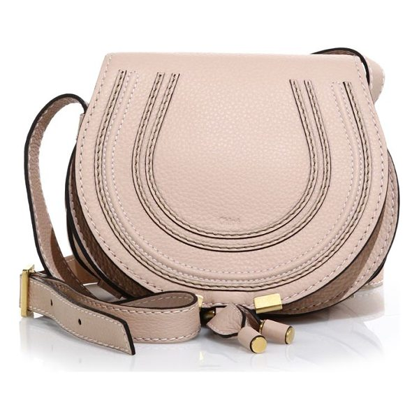 CHLOE marcie small leather crossbody bag - Rich leather defines this rounded crossbody silhouette,...