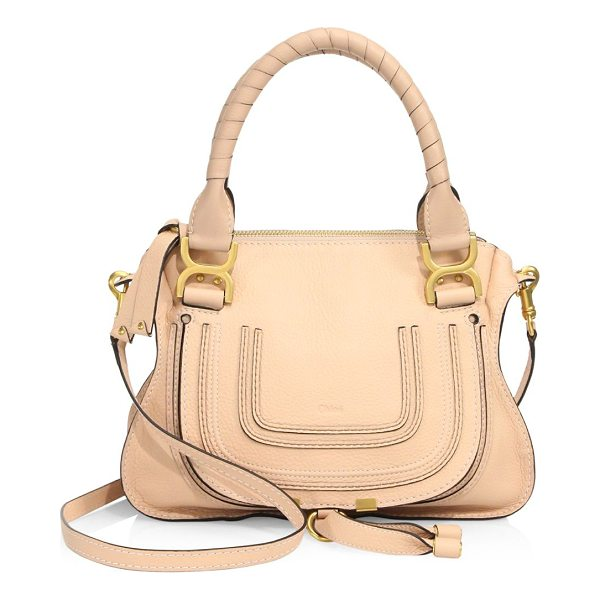 CHLOE double handle marcie leather bag - Leather bag with double top handles. Double top handles....