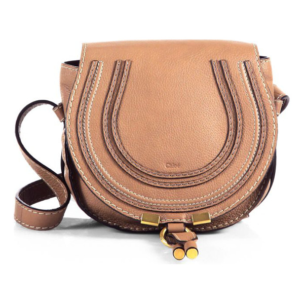 CHLOE small marcie leather crossbody bag - Rounded leather crossbody in rich leather. Adjustable...