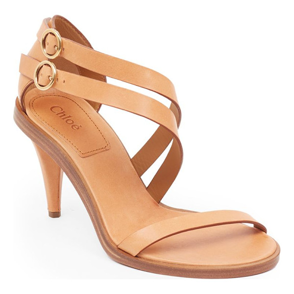 CHLOE niko leather sandals - Sultry leather sandal with duo of asymmetric straps....