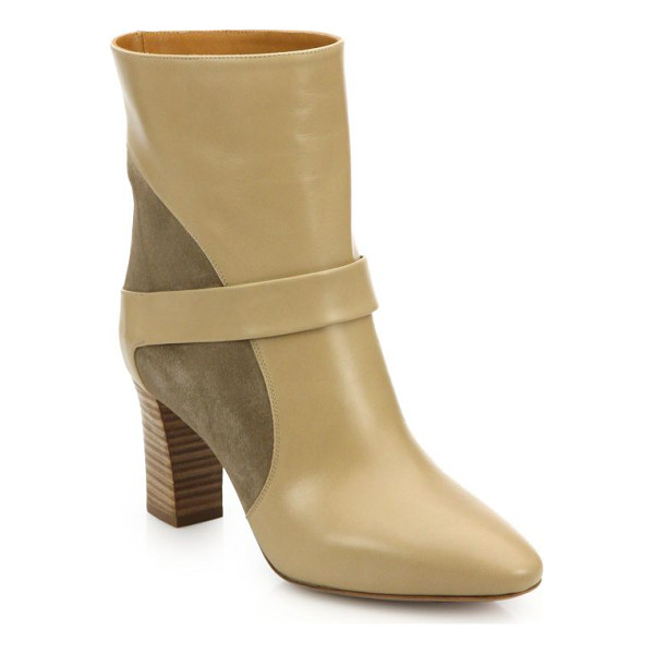 CHLOE Suede & leather booties - Effortlessly chic booties beautifully crafted in a mix of...