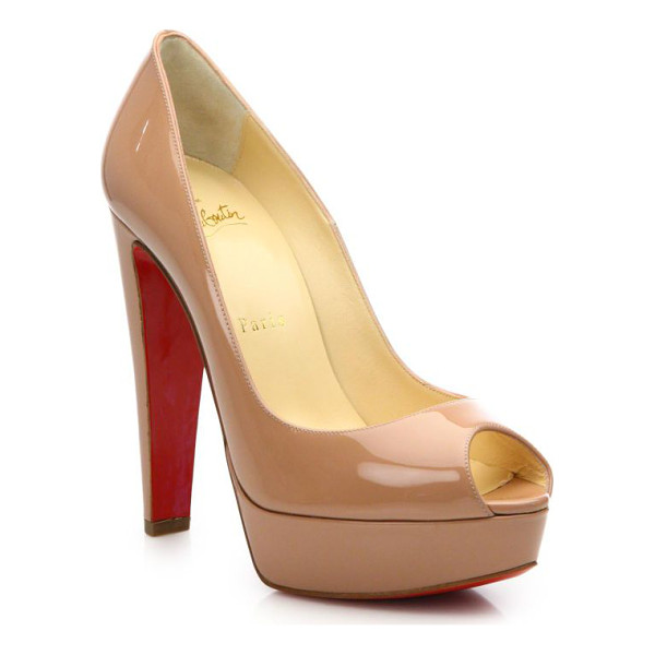 CHRISTIAN LOUBOUTIN Alta nana patent leather platform pumps - Slip into this sleek patent leather pump, designed with a...