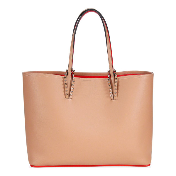 CHRISTIAN LOUBOUTIN cabata leather tote - Spacious leather tote with spike-trimmed handles. Double...