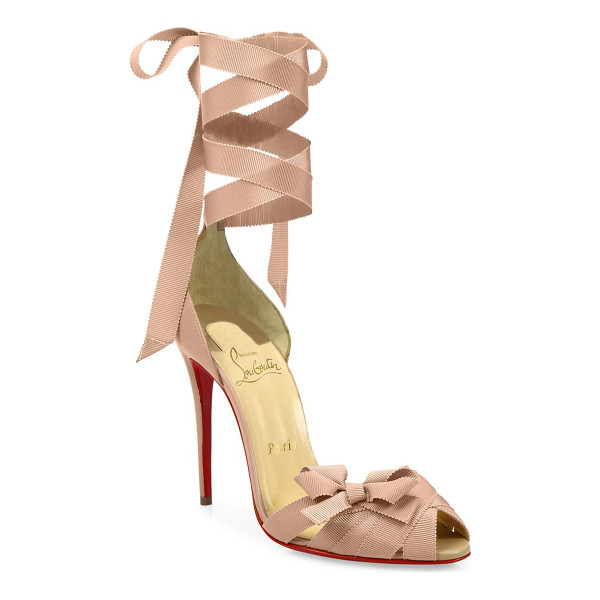 CHRISTIAN LOUBOUTIN christeriva ankle-wrap d'orsay pumps - EXCLUSIVELY AT SAKS FIFTH AVENUE.D'Orsay peep-toe pumps...