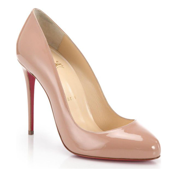 CHRISTIAN LOUBOUTIN dorissima 100 patent leather pumps - Glossy patent leather shapes a dramatic pump finished with...