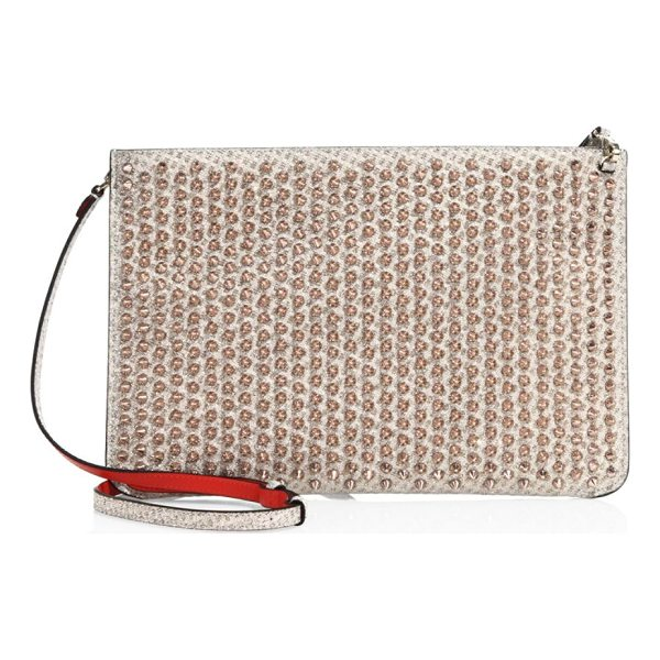 CHRISTIAN LOUBOUTIN embellished clutch - Clutch featuring spike details throughout. Adjustable...