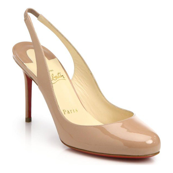 CHRISTIAN LOUBOUTIN fifi patent leather slingbacks - A classic slingback silhouette crafted from sophisticated,...