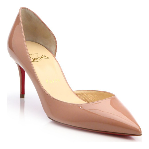 CHRISTIAN LOUBOUTIN iriza patent leather d'orsay pumps - Timeless silhouette in lustrous patent leather.