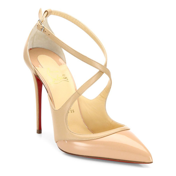 CHRISTIAN LOUBOUTIN leather point toe pumps - Sophisticated pointy pump with svelte crisscross straps.