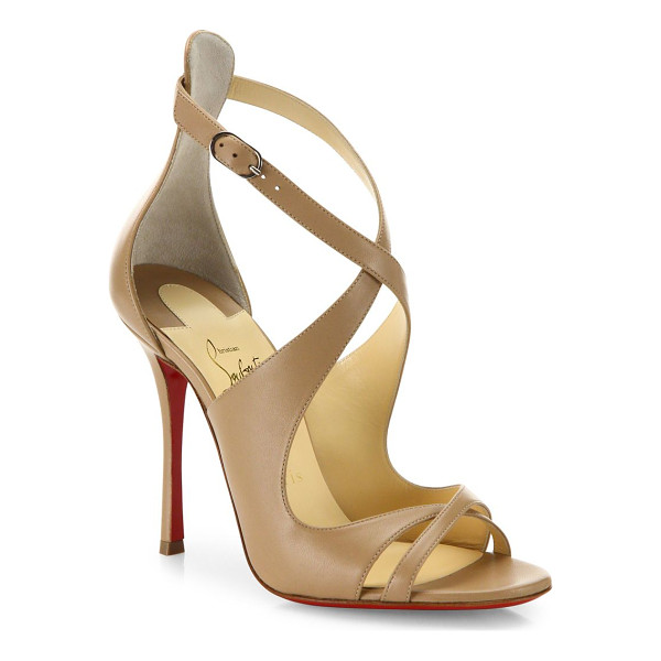 CHRISTIAN LOUBOUTIN malefissima leather sandals - Sleek crisscross sandals crafted in smooth leather....